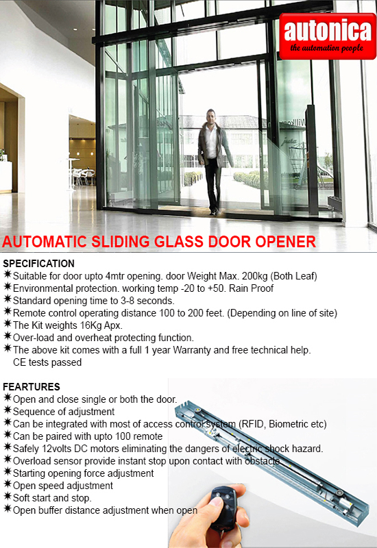 Autonica India Sliding Glass Door Opener